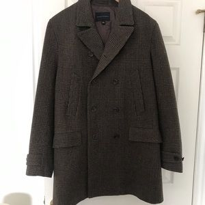 Banana Republic L tweed Pea Coat Jacket
